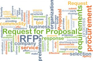 Request for proposal RFP background concept