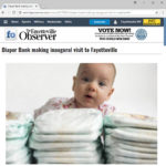 Screen grab from FayObserver.com. Picture of cute baby with diaper(s).
