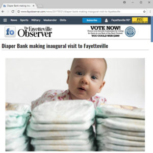 Screen grab from FayObserver.com. Picture of cute baby with diapers.