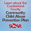 Learn about the Cumberland County Community Child Abuse Prevention Plan. Super hero child image and SOAR logo.
