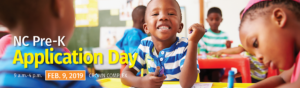 Smiling child in prekindergarten classroom