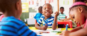 NC Pre-K image of preschooler coloring